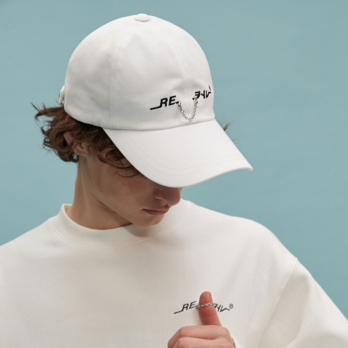 RE chain cap (white)