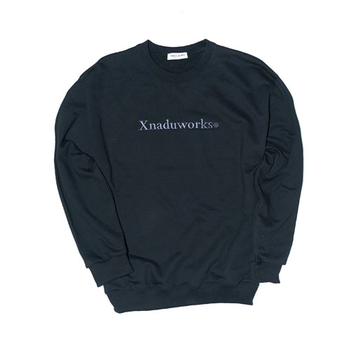 LETTERING PUCNCHED SWEATSHRITS - BLACK