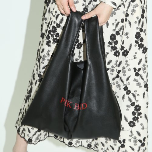1 1 fake leather bag - BLACK