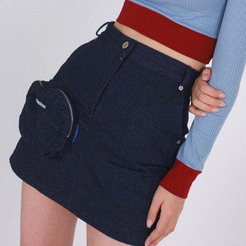 POCKET SKIRT(NAVY)