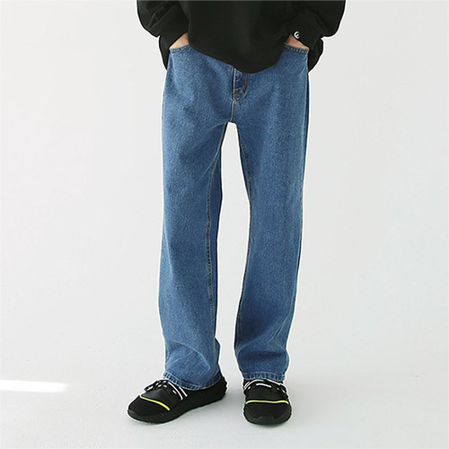 new-tro standard denim pants blue
