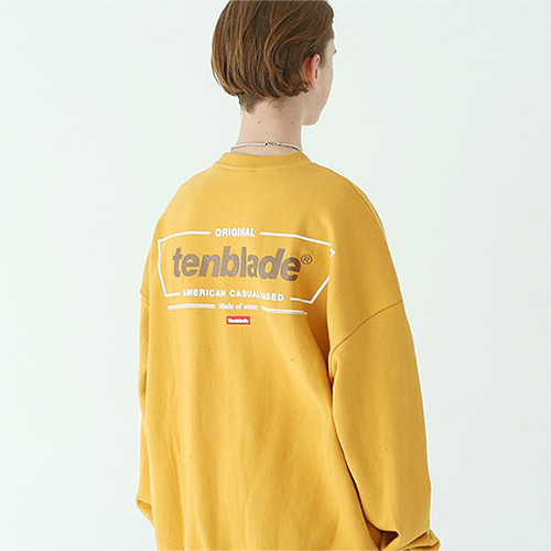 frame box sweat shirt mustard