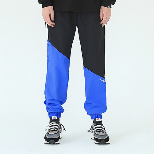 diagonal track pants blue
