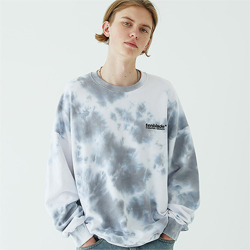 tie dye logo sweat shirt gray