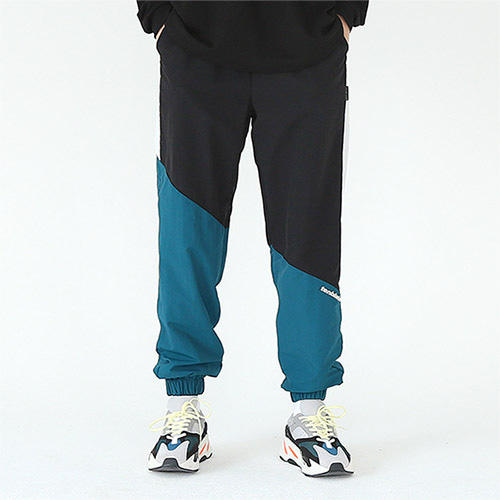 diagonal track pants green