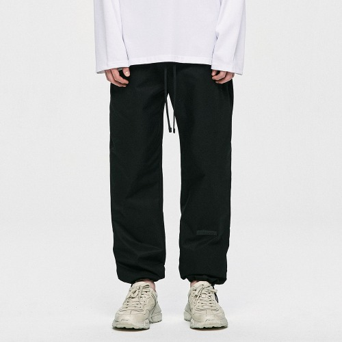 Cotton Track Pants - Black