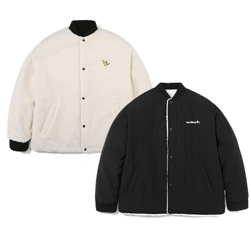 Reversible Quliting Jacket-Black