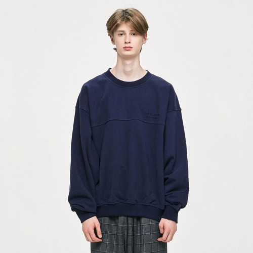 Oversized Sweatshirt - Navy