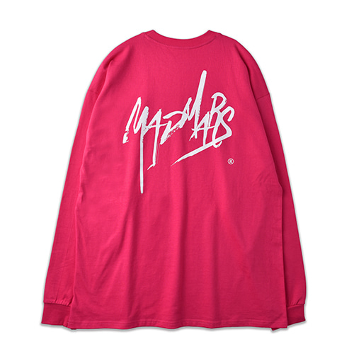 SKETCH LOGO LONG SLEEVE_PINK