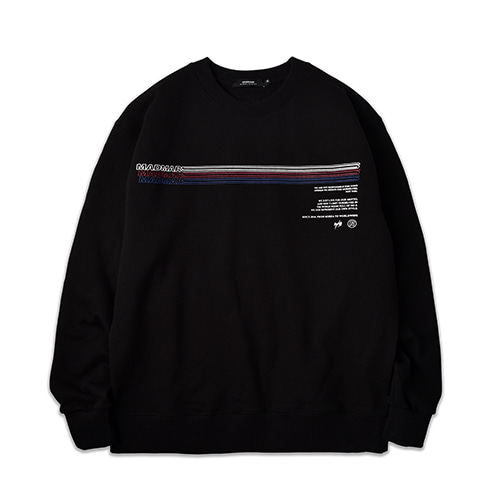 LINE SWEATSHIRT_BLACK