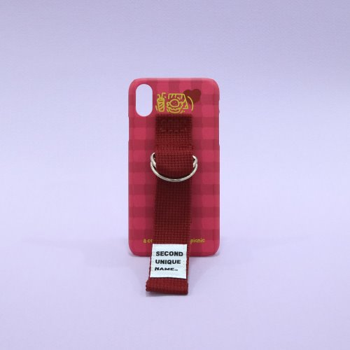 SUN CASE SUGAR CORAL BURGUNDY (CHECK)