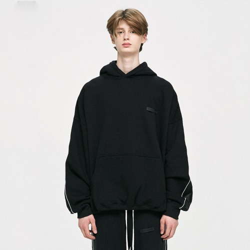 Piping Track Hoodie - Black
