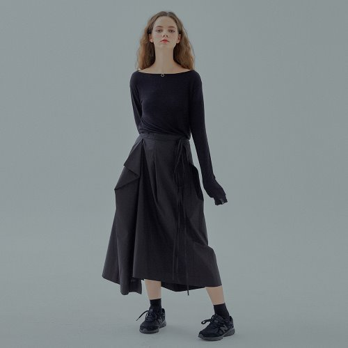 STRAP DOWN SKIRT - BLACK