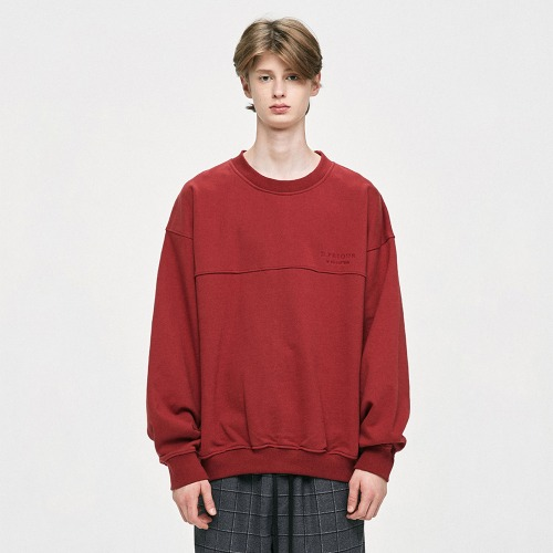 [타이거JK 착용] Oversized Sweatshirt - Red
