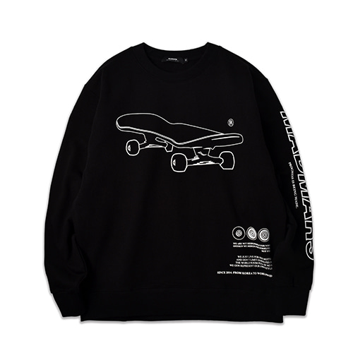SKATEBOARD SWEATSHIRT_BLACK