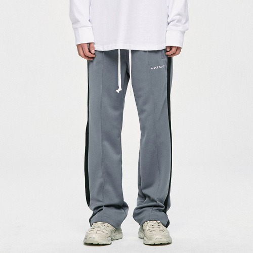 Track Pants - Grey/Black