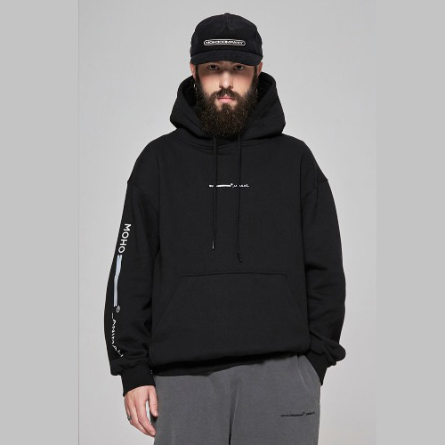 Lion scotch hoodie - black