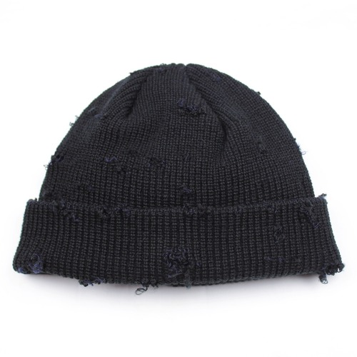 DAMAGE WATCH CAP - BLACK