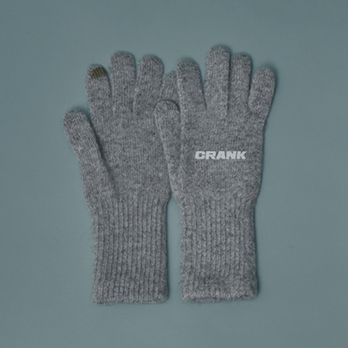 WOOL TOUCH GLOVES_M.GY
