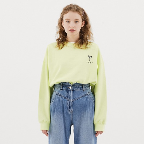23.65 Logo Sweat Shirt Lime