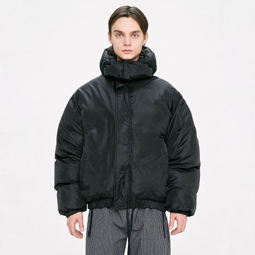 Hood Padded Jacket - Black
