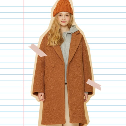 MD OVERFIT COAT (BROWN)
