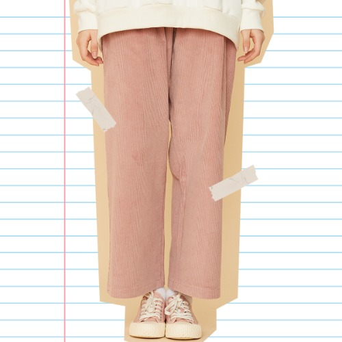 MD WIDE PANTS (PINK)