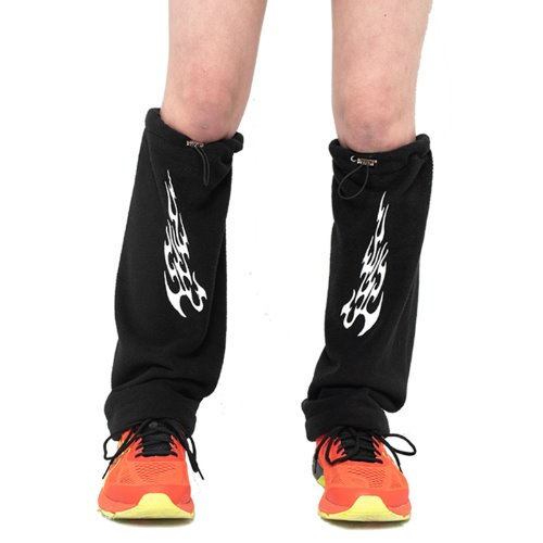 셋업이엑스이 FIRE FLEECE LEG WARMER - BLACK