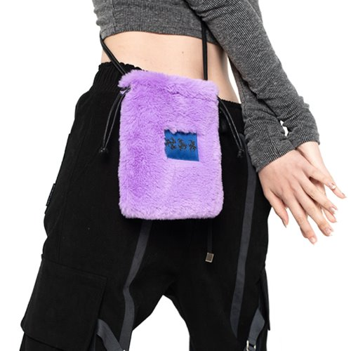 셋업이엑스이 FUR MINI CROSS BAG - PURPLE