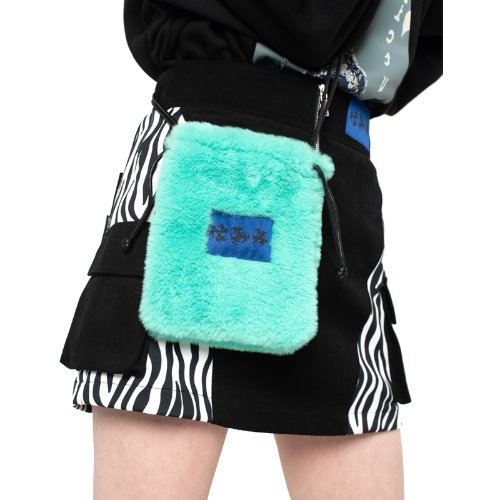 셋업이엑스이 FUR MINI CROSS BAG - MINT