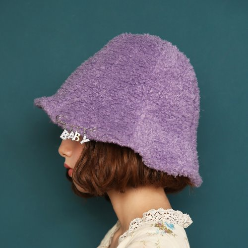 1 2 fleece bucket hat - VIOLET