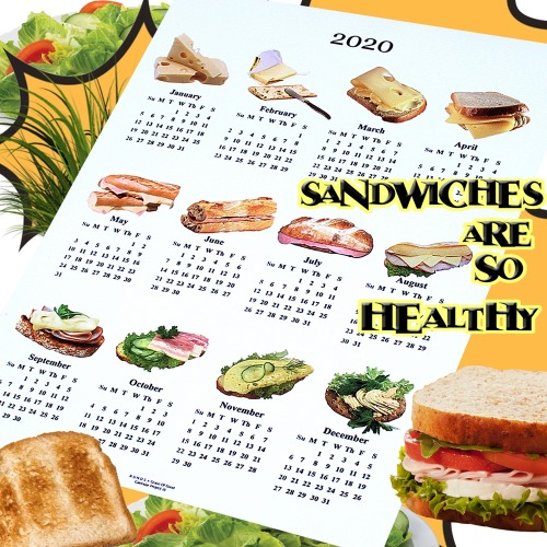 SANDWICH CANVAS CALENDAR - 2SIZE