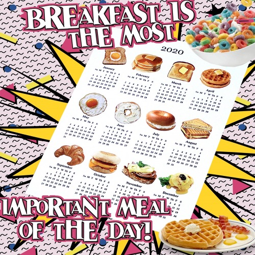 BREAKFAST CANVAS CALENDAR - 2SIZE