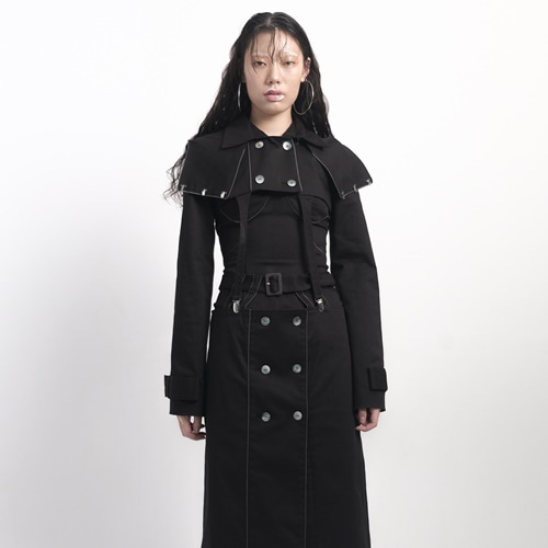 [OrderMade]separation mix 3pieces trench coat