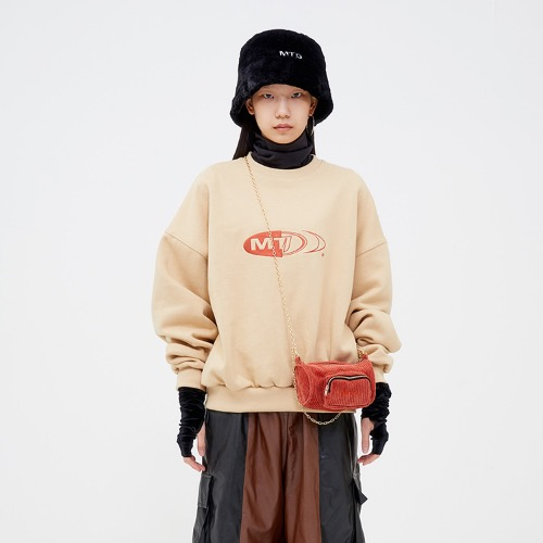 COTTON FLEECE SWEATSHIRT - BEIGE