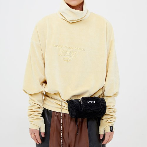 VElVET WARMER TOP - LIGHT YELLOW