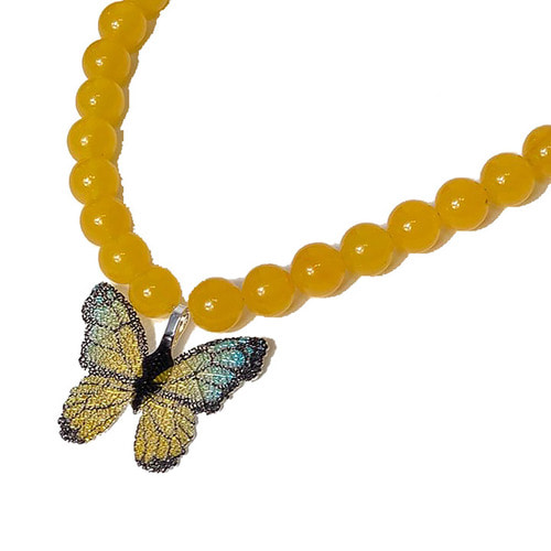 Topaz butterfly necklace