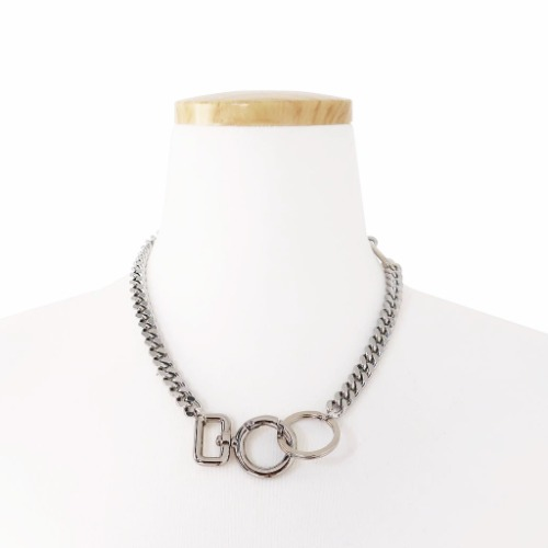 O RING CONNECTOR NECKLACE - SILVER