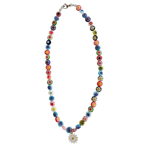 SMILEY DAISY NECKLACE - SILVER