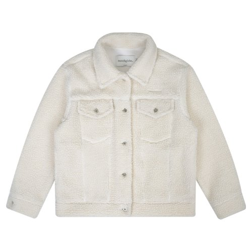 MG9F SHEARING TRUCKER JACKET (IVORY)