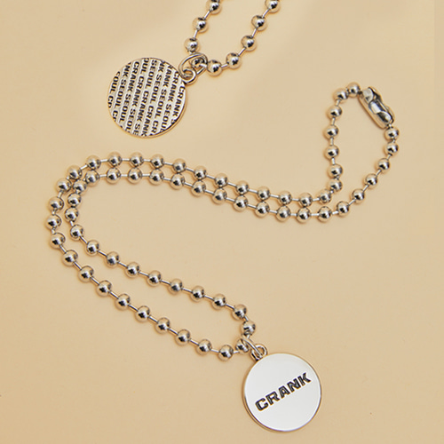 DOUBLE SIDED BALL CHAIN NECKLACE