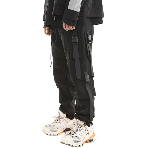 NYLON METAL STRING JOOGER PANTS VER.2