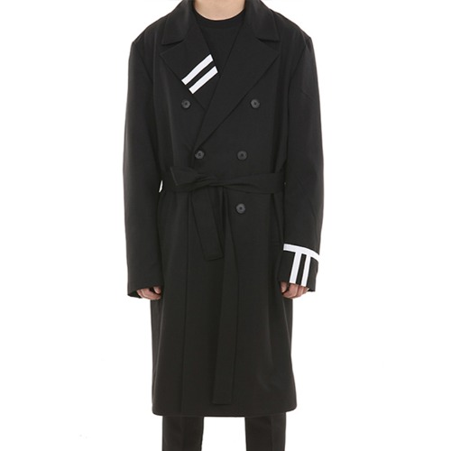 LINE DOUBLE ROBE TRENCH COAT