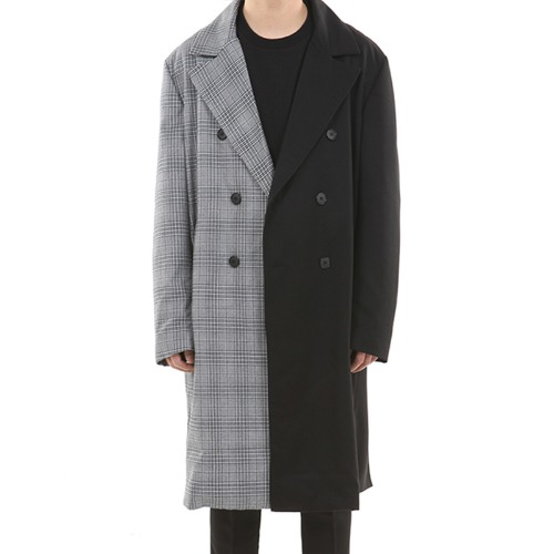 UNBALANCE DOUBLE ROBE TRENCH COAT