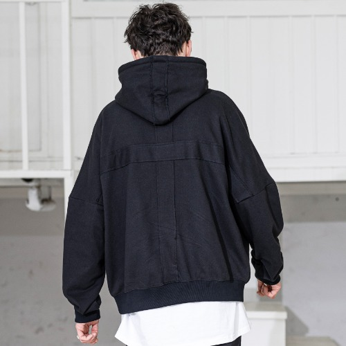 CROSS ADD OVERSIZED HOODY MSZHD002-BK