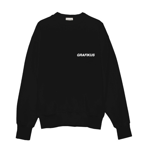 GRAFIKUS LOGO BLACK SWEAT
