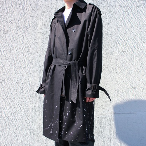 PAINTING DOUBLE TRENCH COAT - 2COLOR