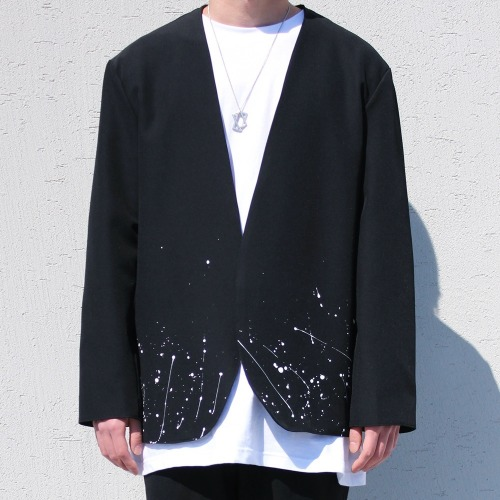 PAINTING COLLARLESS BLAZER