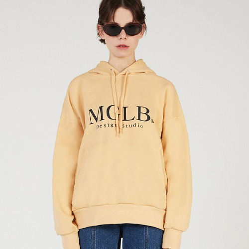 MG0S NATURE BIG LOGO HOOD (YELLOW)