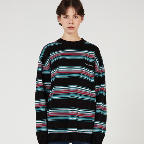 MG0S MULTI STRIPE KNIT MTM (BLACK)